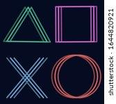 playstation cross triangle...   Shutterstock .eps vector #1644820921