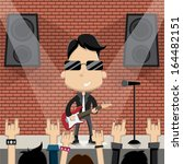 rock star guy character design. ... | Shutterstock .eps vector #164482151