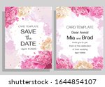 floral card for wedding... | Shutterstock .eps vector #1644854107