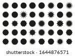 star burst sticker. starburst... | Shutterstock .eps vector #1644876571