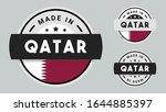 made in qatar collection for... | Shutterstock .eps vector #1644885397