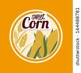sweet corn design over yellow... | Shutterstock .eps vector #164488781