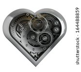 Mechanical Heart Isolated On...