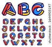 impossible shape alphabet.... | Shutterstock .eps vector #1644905197