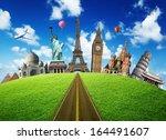 travel. the world monument... | Shutterstock . vector #164491607