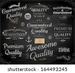 vector set of calligraphic... | Shutterstock .eps vector #164493245