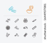 traditional meal icons set....
