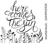 spring vector lettering here... | Shutterstock .eps vector #1644942934