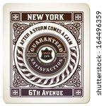 premium quality card. baroque... | Shutterstock .eps vector #164496359