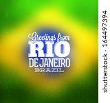 Rio De Janeiro   Typogrpahic...