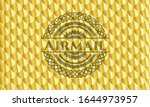 airmail golden badge or emblem. ... | Shutterstock .eps vector #1644973957
