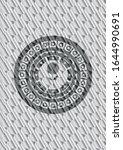 flower icon inside silver shiny ... | Shutterstock .eps vector #1644990691