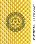 football ball icon inside gold... | Shutterstock .eps vector #1644990694