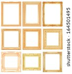 set picture frame isolated on... | Shutterstock . vector #164501495