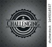 challenging dark badge. vector... | Shutterstock .eps vector #1645018537