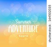 vector summer poster. creative... | Shutterstock .eps vector #164502035