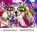 pop art original artwork... | Shutterstock .eps vector #1645035121