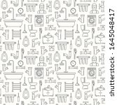 seamless pattern with line...   Shutterstock .eps vector #1645048417
