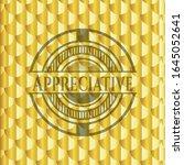 appreciative golden badge.... | Shutterstock .eps vector #1645052641