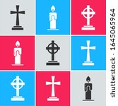 Set Tombstone With Cross  ...