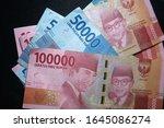 money indonesian rupiah... | Shutterstock . vector #1645086274