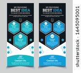 dl flyer design. corporate... | Shutterstock .eps vector #1645095001