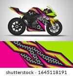 racing motorcycle wrap decal...   Shutterstock .eps vector #1645118191