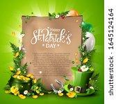 st. patrick's day empty... | Shutterstock .eps vector #1645124164
