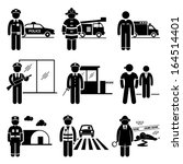public safety and security jobs ... | Shutterstock .eps vector #164514401
