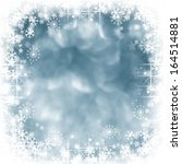 blue shiny stars and snowflakes ... | Shutterstock . vector #164514881