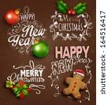 Christmas decoration elements. Vector