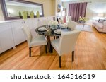 Modern Dining Room In Luxury...