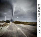 Image Of Powerful Huge Tornado...