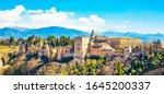 alhambra palace in granada ...   Shutterstock . vector #1645200337