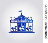 merry christmas   happy new... | Shutterstock .eps vector #164521844