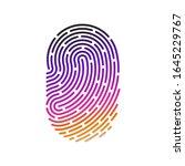id app icon. fingerprint vector ... | Shutterstock .eps vector #1645229767