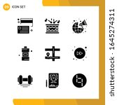 9 icon set. solid style icon...