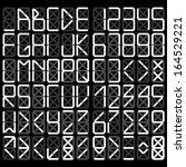 digital alphabet   white on a...   Shutterstock .eps vector #164529221