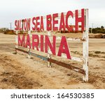 An Old Sign Near The Salton Se...