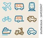 transport web icons  vintage... | Shutterstock .eps vector #164532047