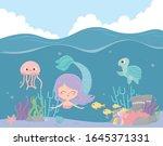 Mermaid Seahorse Jellyfish...