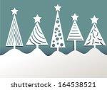 paper christmas trees   Shutterstock .eps vector #164538521