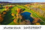 Aerial View Of A Golf Course In ...