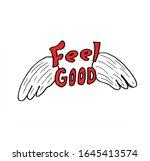 retro feel good slogan vector....   Shutterstock .eps vector #1645413574