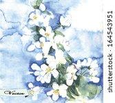 vector watercolor spring...   Shutterstock .eps vector #164543951