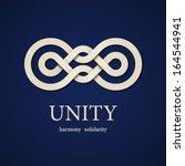 vector unity paper knot design... | Shutterstock .eps vector #164544941
