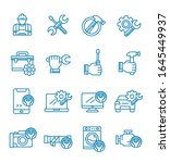 set of repair icons with... | Shutterstock .eps vector #1645449937