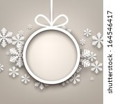 christmas snowflakes background ... | Shutterstock .eps vector #164546417
