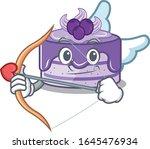 sweet blueberry cake cupid...   Shutterstock .eps vector #1645476934