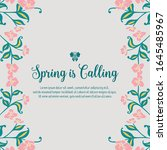 poster of spring calling  with... | Shutterstock .eps vector #1645485967